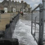 Tidal protection using temporary flood barriers at Brownsea Island