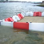 Flood barrier defences capable of holding back vast quantities of water