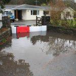 maison protégé par les barrières anti-inondations